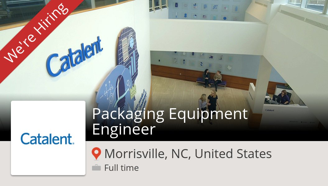#Packaging #Equipment Engineer (#job) wanted in #Morrisville. #Catalent https://workfor.us/catalent/5iq7t