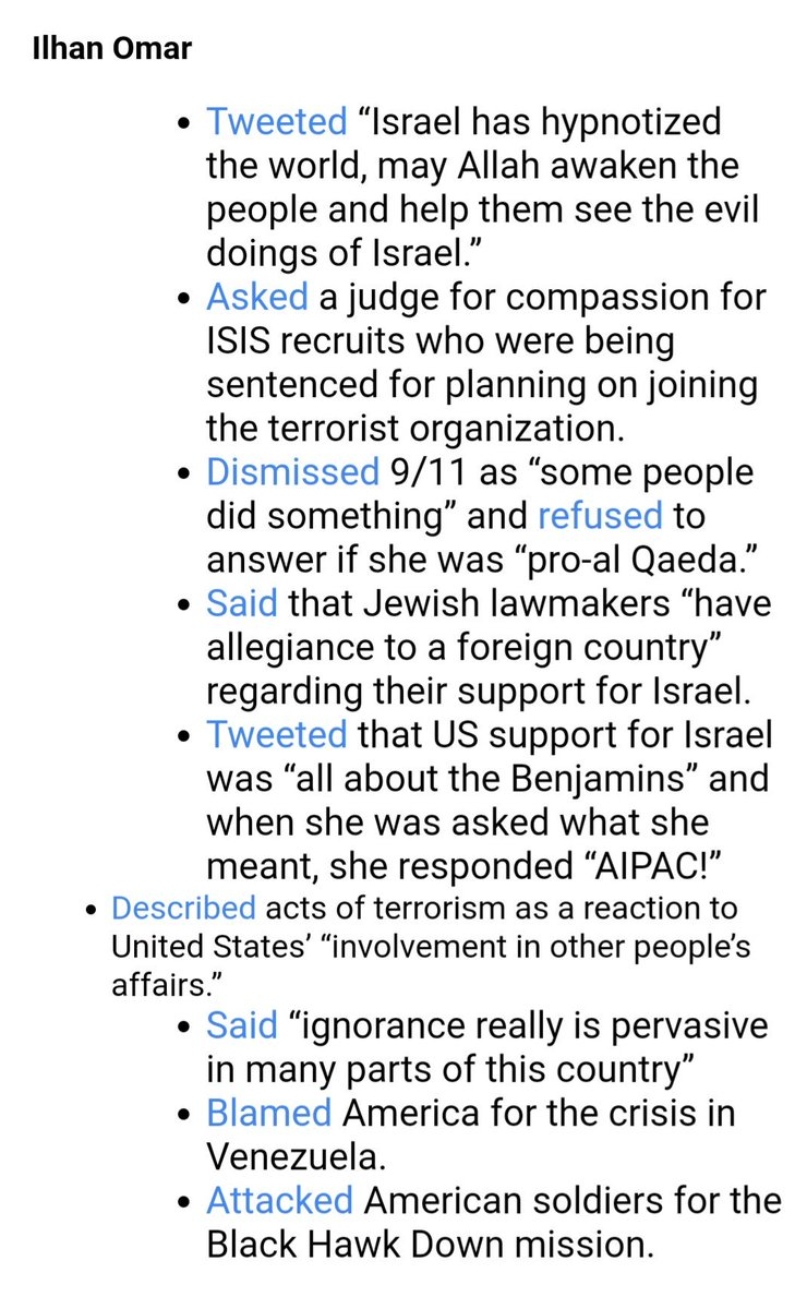 Here are the reasons why #TheSquad (@IlhanMN, @RashidaTlaib, @AOC and @AyannaPressley) might need to be condemned before @realDonaldTrump is. #PutThatInYourPipe