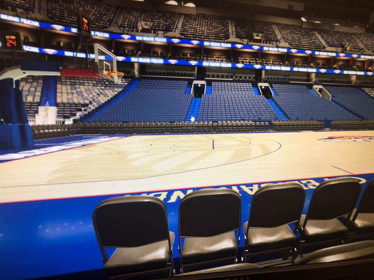 My view during the upcoming @PelicansNBA season 😭 dreams do come true