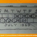 Image for the Tweet beginning: In 1969, astronauts kept track