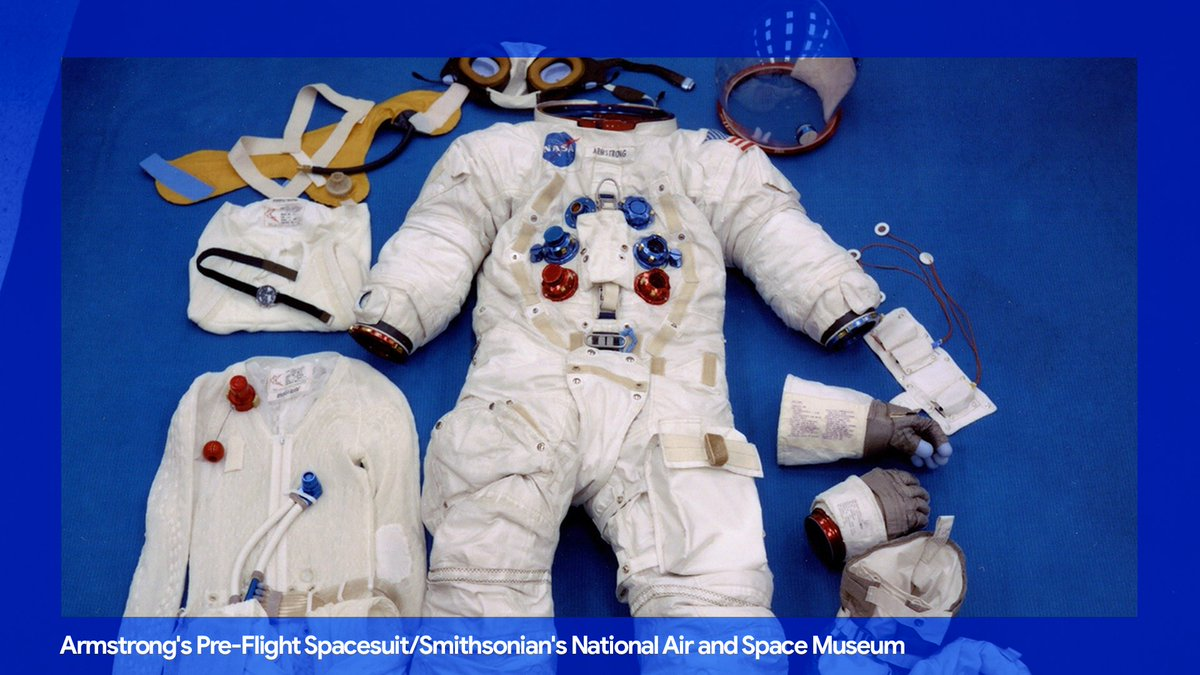 #Apollo50th fact #3: Spacesuits look cool, but ever wonder how they stay cool? The Apollo 11 spacesuit included a liquid cooling garment (LCG) layer. Made out of nylon, it looked like long underwear with clear plastic tubes running through it → http://goo.gle/30yvWzg