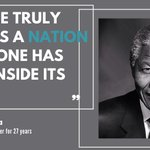 Image for the Tweet beginning: Nelson Mandela was detained for