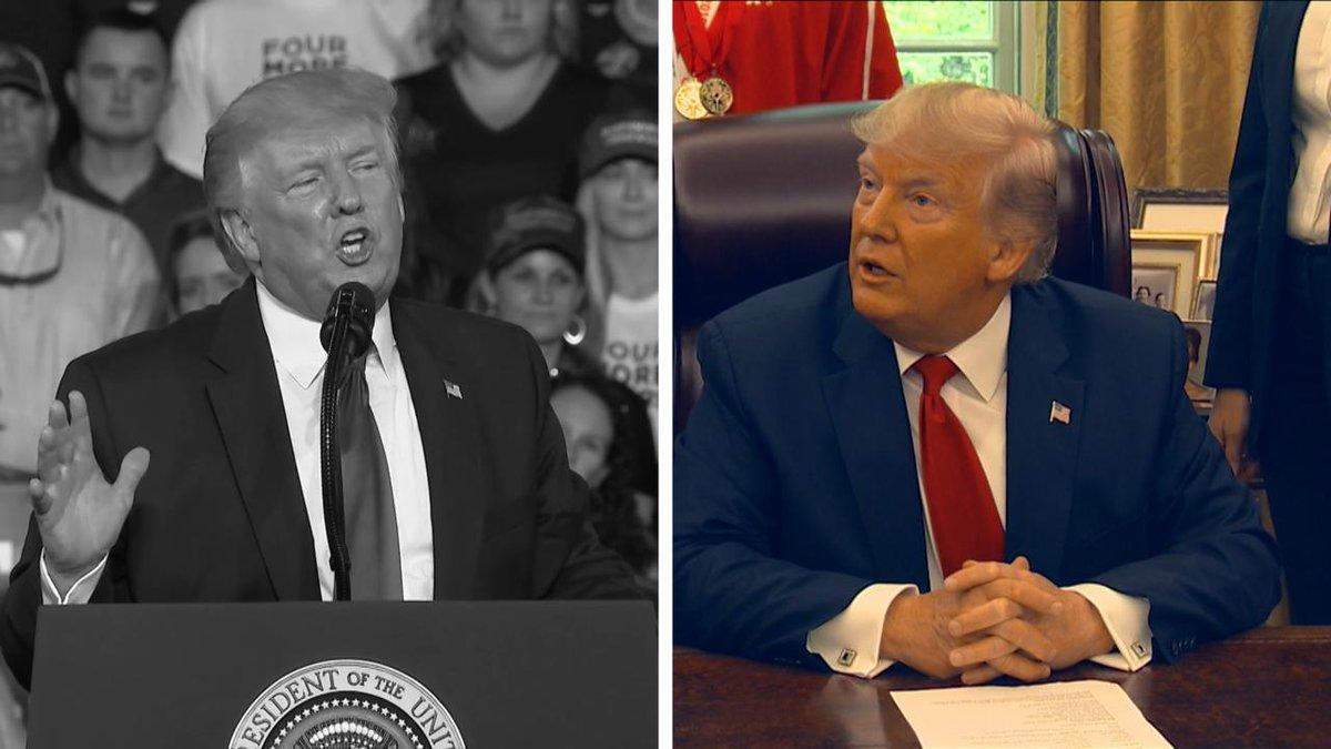 "Image for the Tweet beginning: President Trump said he ""very"