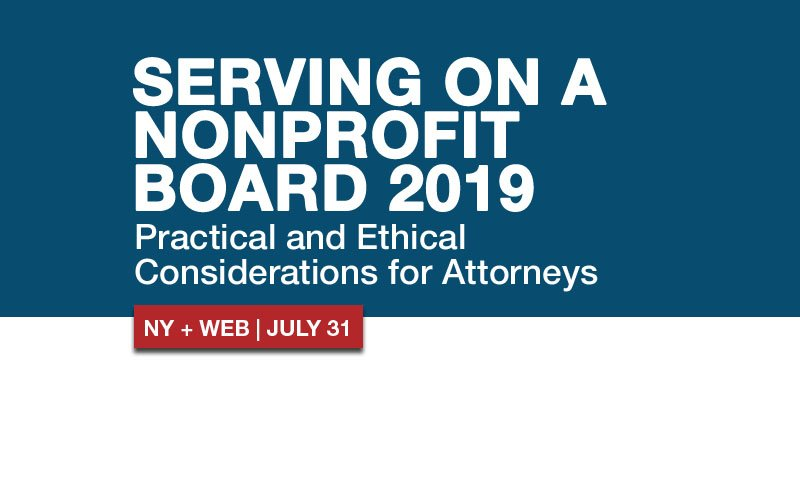 Serving on a #nonprofit board can help a cause that is personally meaningful to you, but what should you know before you serve? Attend this program live or via Live Webcast to learn due diligence and gain an understanding of #ethics issues. http://ow.ly/DSnR50uYKXx