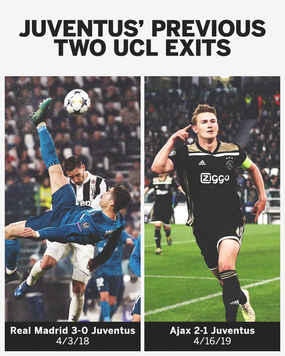 Cristiano Ronaldo and Matthijs de Ligt ended Juventus last two Champions League campaigns. Now they both play for Juve ⚫️⚪️