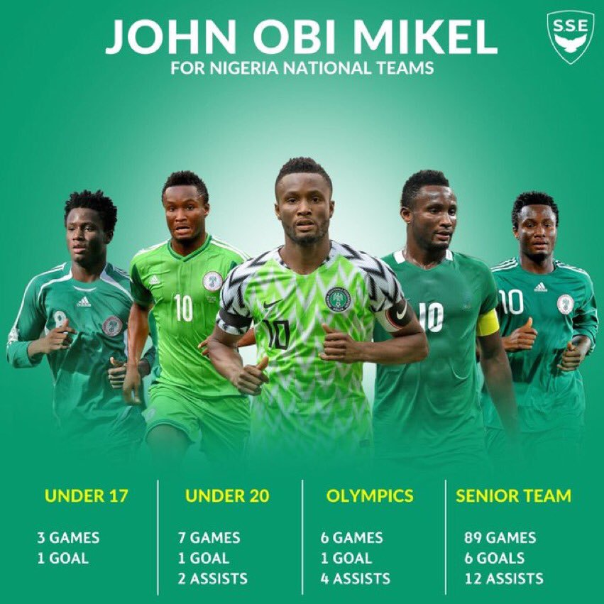 Happy retirement to John Mikel Obi, what a captain he was for Nigeria, a true patriot and legend of the game. Congratulations to our one and only Skippo. <br>http://pic.twitter.com/G5Vf5FSBfW