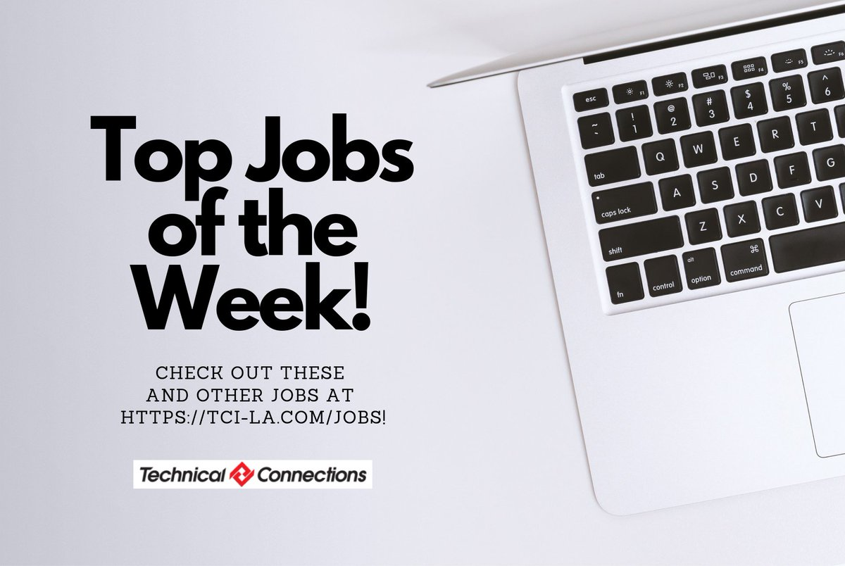 Check out our top #jobs in #tech this week - and send us your application today! https://linktr.ee/technicalconnections … #techjobs #losangeles #venturacounty #orangecounty #developer #devops #QA #directoroftechnology #infosec #informationsecurity #strategicsiircing #technology #werehiring