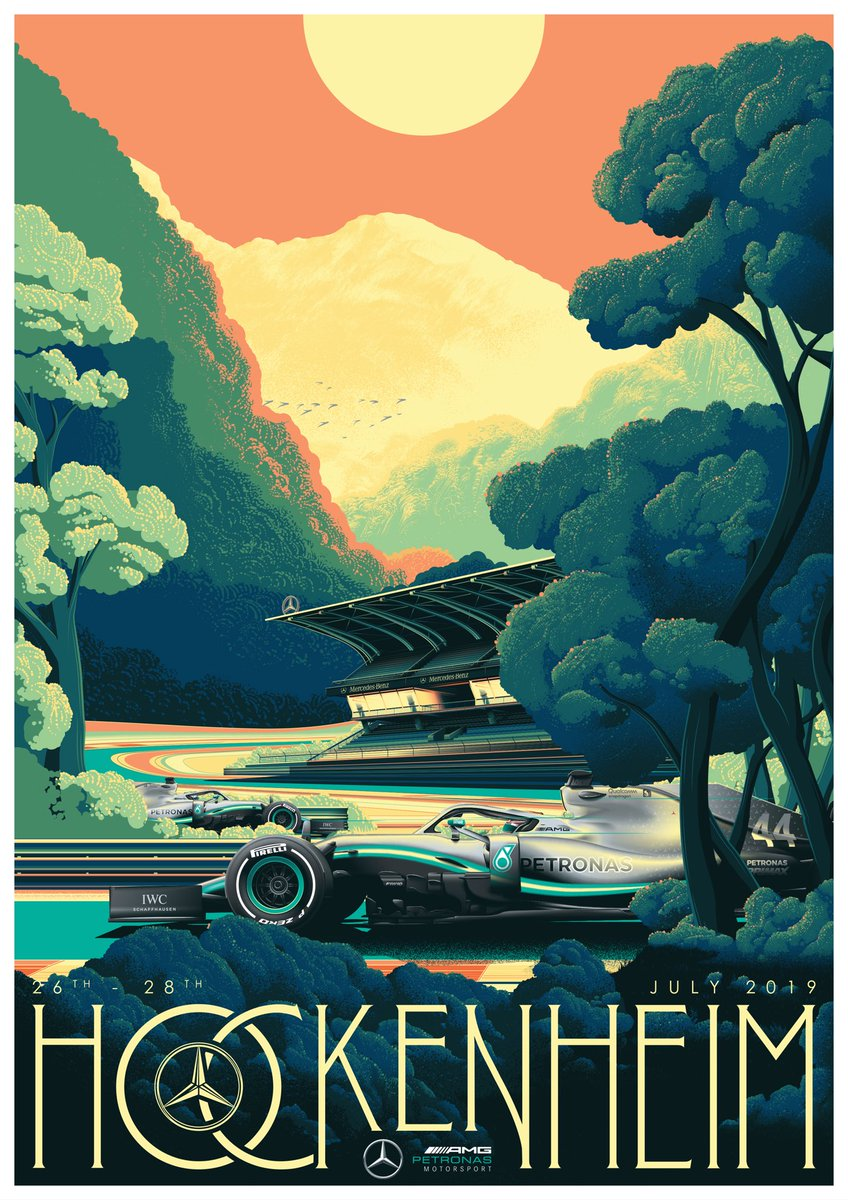 First look @ZoomAuction's stunning #GermanGP poster 😍😍😍  Get yours today with proceeds going to @CR_UK!   👉 https://bit.ly/2LuMLaD