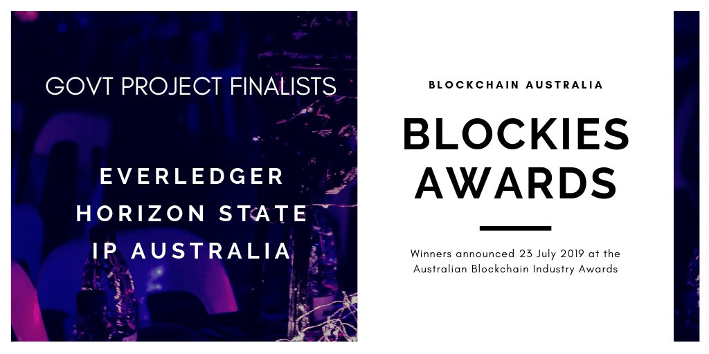 Amazing news to have made the finalists of Australia's top blockchain awards. We'll see you at the awards night @BlockchainAUS !