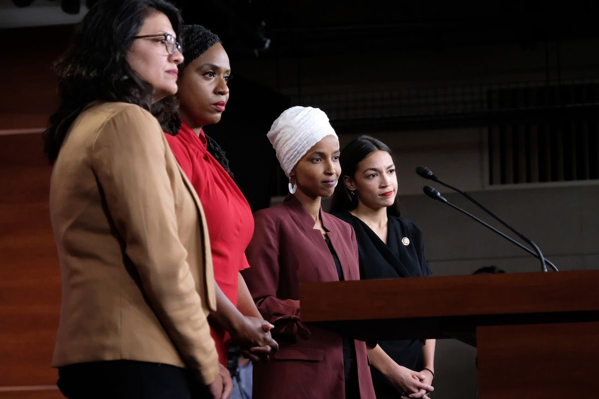 Putting targets on the backs of the 4 Congresswomen&the women in the press who have been attacked is violent in its tone&is life-threatening. It violatesEEOClaw workplace conditions&moral law.The other women inCongress&the press must not allow the 4Congresswomen to stand alone.