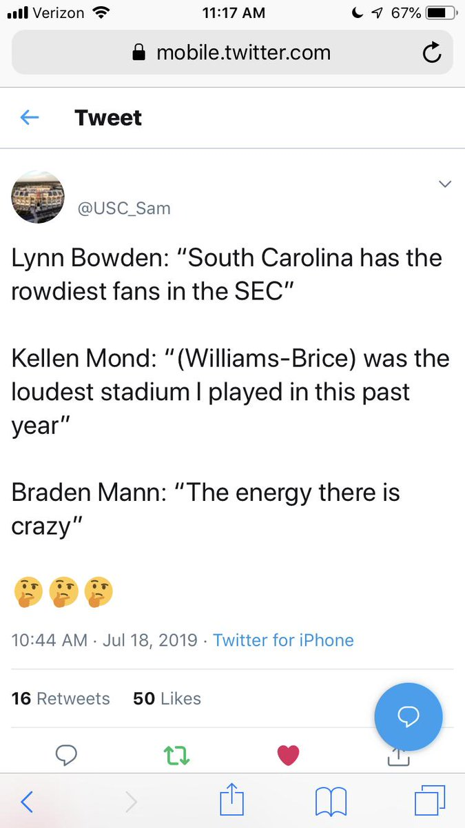 """""""sOuTh CaRoLiNa's StAdIuM iSnT tHaT lOuD."""" - 90% of Clemson and Georgia fans I know. <br>http://pic.twitter.com/DVMmHKfbMd"""