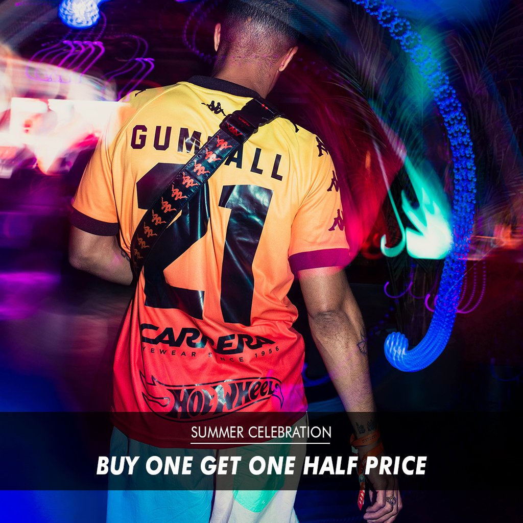 SUMMER CELEBRATION SPECIAL OFFER: BUY ONE GET ONE HALF PRICE ONLINE STORE *Offer ends 22/7/19 https://t.co/dBvmyndiMA #Gumball3000 #GumballLife https://t.co/KcItymAgMd