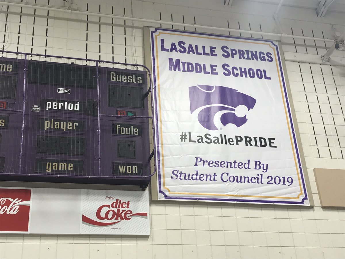 Thank to our LSMS Student Council for the new banner in our gym. It looks great! #LaSallePRIDE