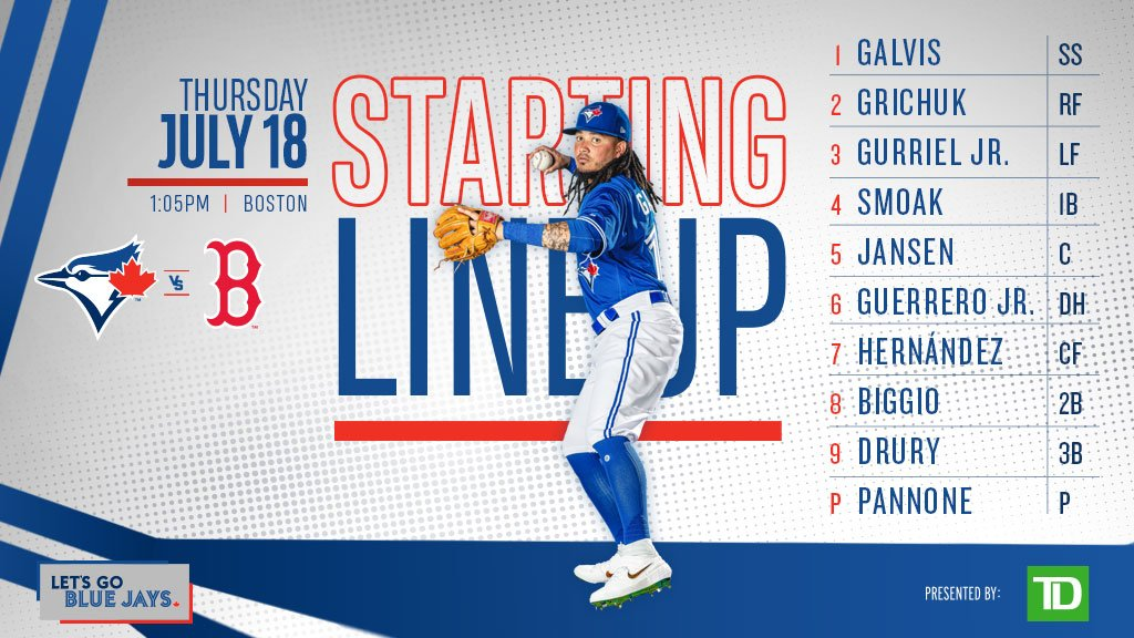 Who's ready for some afternoon baseball? #LetsGoBlueJays