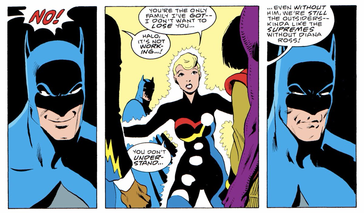 That time Halo likened Batman to Diana Ross #dailypanelsofWEIRD<br>http://pic.twitter.com/WfVwMdMM8t