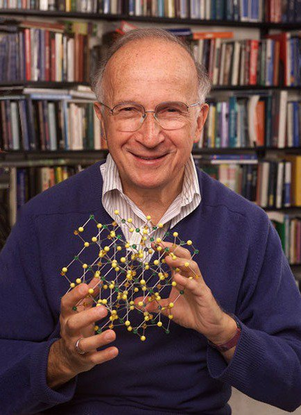 """""""It seems obvious to me to use words as best as I can in teaching myself and my coworkers. The words are important in science, as much as we might deny it, as much as we might claim that they just represent some underlying material reality.""""  Happy birthday to Roald Hoffmann!"""