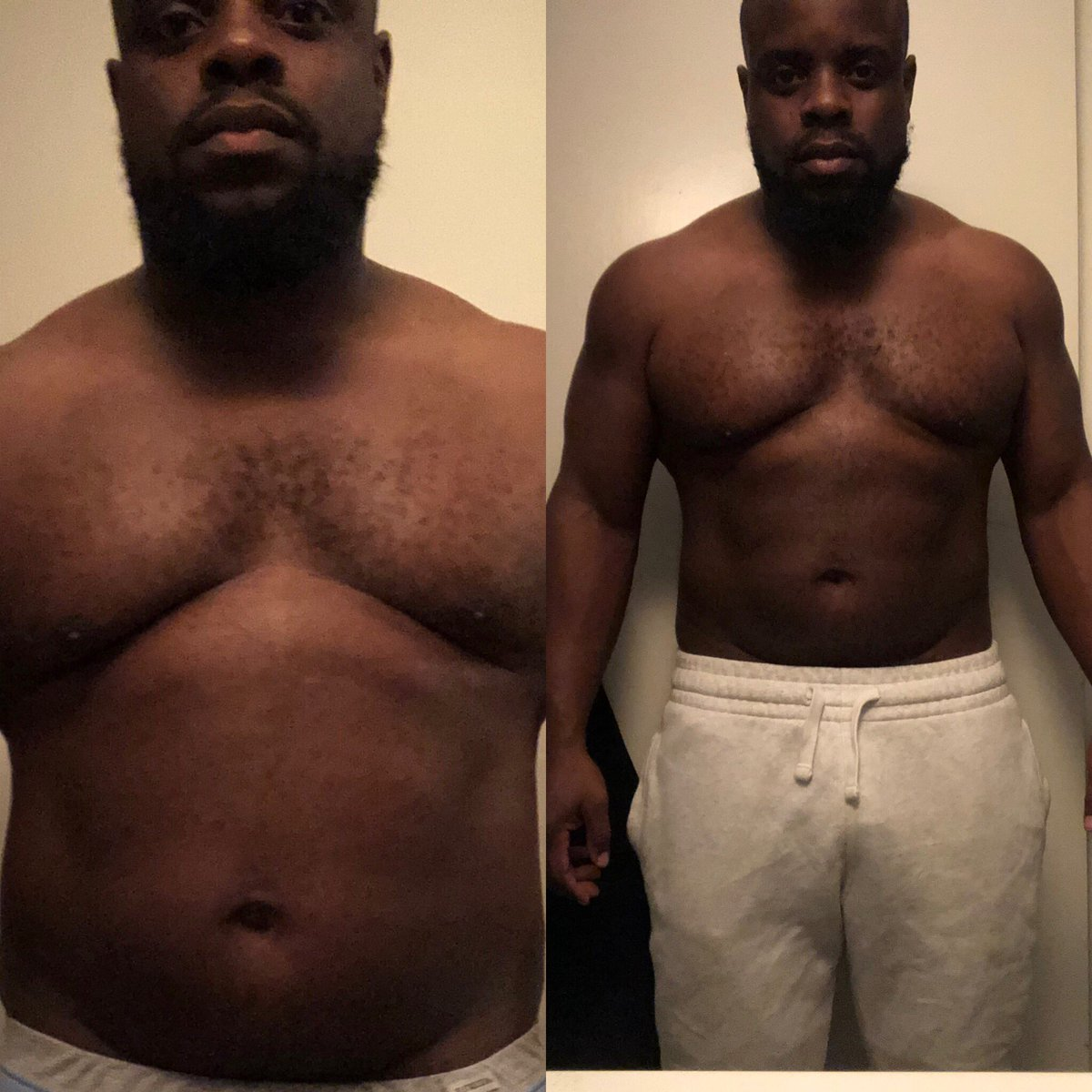Been working hard on my fitness journey...been getting up early(5:45am) to meet with my trainer on days where I got little sleep and def didn't want to go...seeing some progress has def gave me more motivation and makes me want to push harder!!! #fitnessjourney #progress<br>http://pic.twitter.com/5Yf2EORxY4