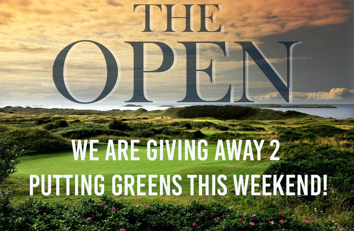 🚨 GIVEAWAY TIME 🚨 We are giving away 2 4x10 Putting Greens for #TheOpen! Follow us and Retweet this tweet to be entered! Winners will be chosen at random on Monday July 22.