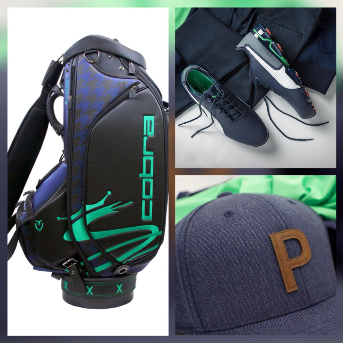 Loving the @cobragolfuk @pumagolfuk X Collection celebrating 10 years with @RickieFowler For a chance to win an X Collection golf bag, pair of trainers and cap, simply reply below with who you think will win #TheOpen Good luck 🏌♂ #MakeYourMark #NXTLVL