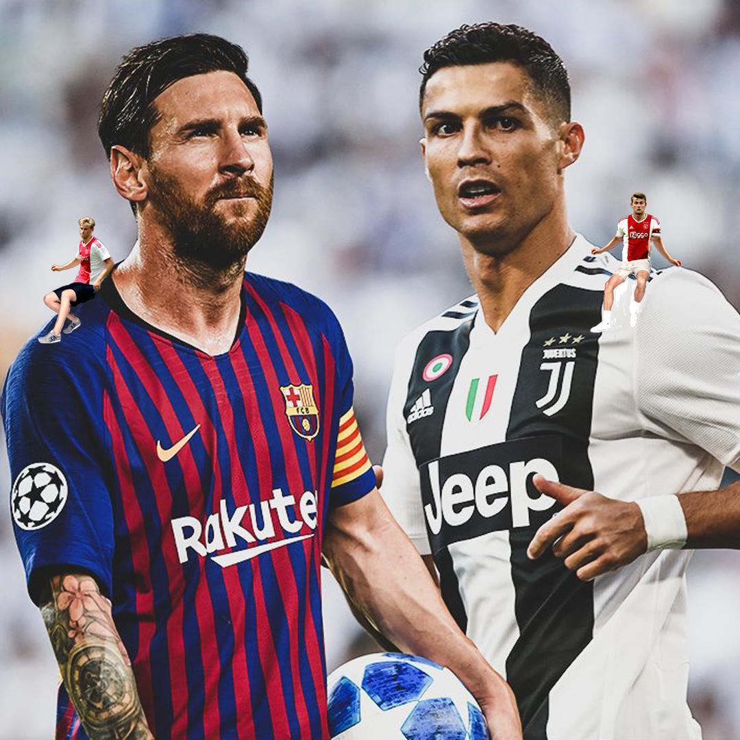 De Jong chose Messi.De Ligt chose Ronaldo.Who would you choose to play with?