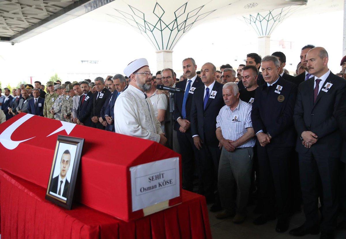 Erbil'deki alçak saldırıda şehit düşen çalışma arkadaşımız Osman Köse'yi Hakk'a uğurladık. Allah rahmet eylesin. Başımız sağolsun.