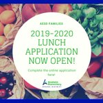 Image for the Tweet beginning: 2018-2019 Lunch Applications now open!