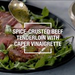 Image for the Tweet beginning: This spice-crusted beef tenderloin is