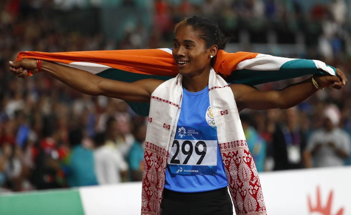 """WOW!!  YOU GO """"GOLDEN GIRL""""!!! 🥇🥇🥇🥇 ...Fourth Gold in 15 days! What an incredible win by our Indian star sprinter @HimaDas8 in 200m race at #TaborAthleticsMeet. 👏👏 Mighty Proud!! 🇮🇳"""