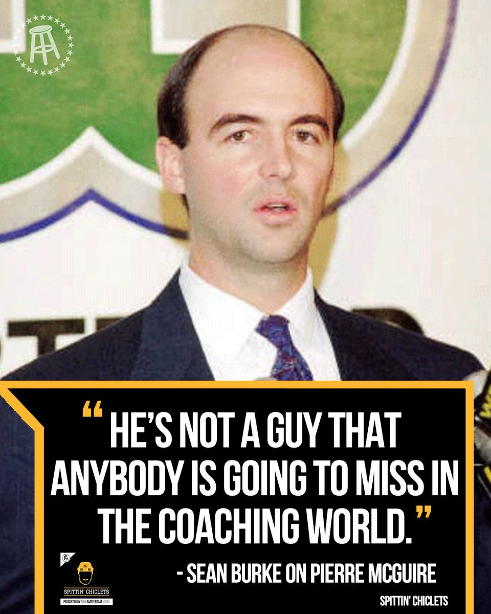 You either love him or you hate him.  Sean Burke joined @spittinchiclets this week to discuss what it was like to play for Pierre McGuire.  Listen here--> https://podcasts.apple.com/us/podcast/spittin-chiclets-episode-192-featuring-sean-burke/id1112425552?i=1000444668888…