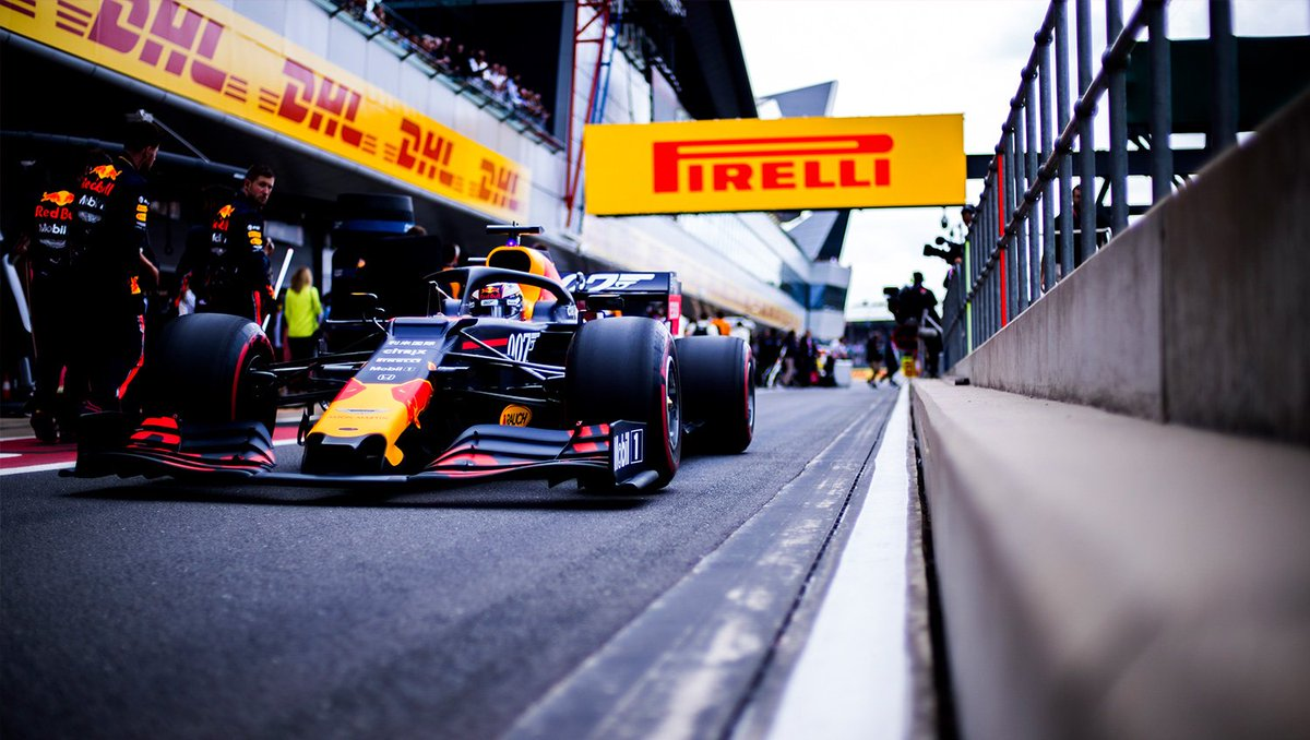 Pulling out of the pits 👊 Who fancies taking the RB15 for the commute home? #givesyouwings