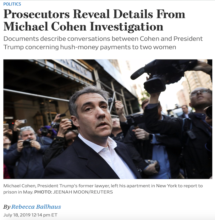Michael Cohen routinely called Trump minutes after speaking with Pecker or Howard about the hush payments. On Oct 28, after finalizing the Stormy Daniels' transaction, Cohen spoke to Trump for five minutes.  by @rebeccaballhaus #Maddow https://on.wsj.com/2XQsPpp