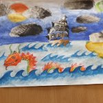 Image for the Tweet beginning: Year 9 art work following