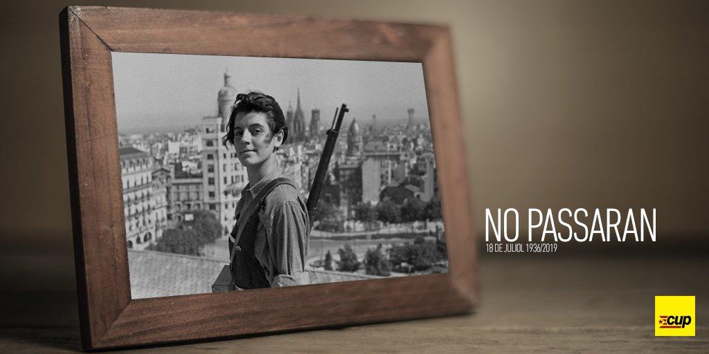 MEMÒRIA | ✊83 anys després del cop d'estat feixista. Ahir, avui, sempre NO PASSARAN #NoOblidem #Memòria