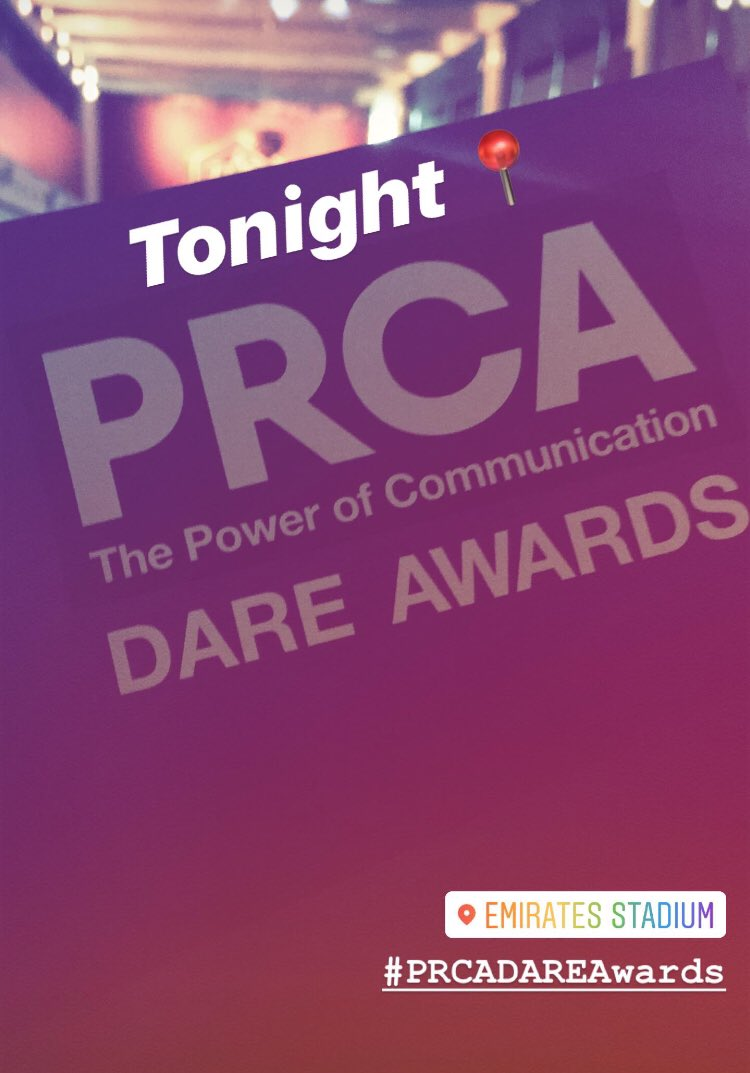 Hands up if you're at the #PRCADAREAwards tonight 🙋♂️🙋♀️