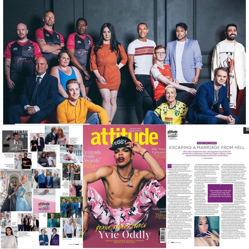 Get your August issue @attitudemag out now! #LGBTQ Hero's of 2019 & the #Allies @oddlyyvie #feature #magazine #attitudeprideawards #attitudemag #dragqueens #trans #gayindian #AttitudeMag #campaigner #author #queer #sikh  Interviewer @tomstichbury  Photographer @leoncphoto