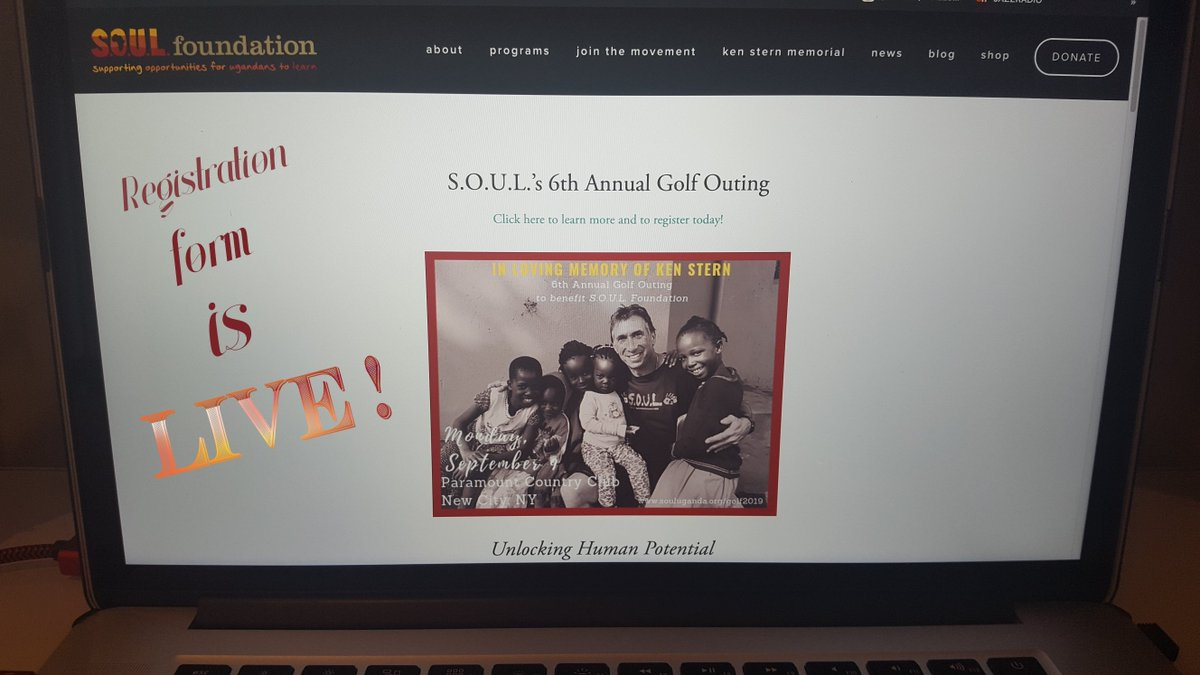 REGISTRATION FORM for 6th Annual Golf Outing @paramountcc_ny on 9/9/19 in loving memory of our late co-founder Ken Stern is LIVE on our website mailed invitations are on the way! Sign-up and help support us so we can continue the great work at @souluganda that Ken helped build.pic.twitter.com/geldtURGxR