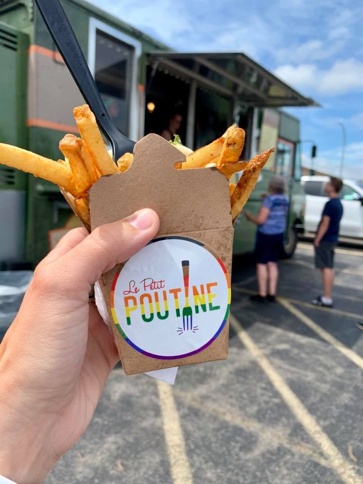 We're enjoying a visit from @lepetitpoutine #foodtruck today at our Rochester office. So good on this summer day!