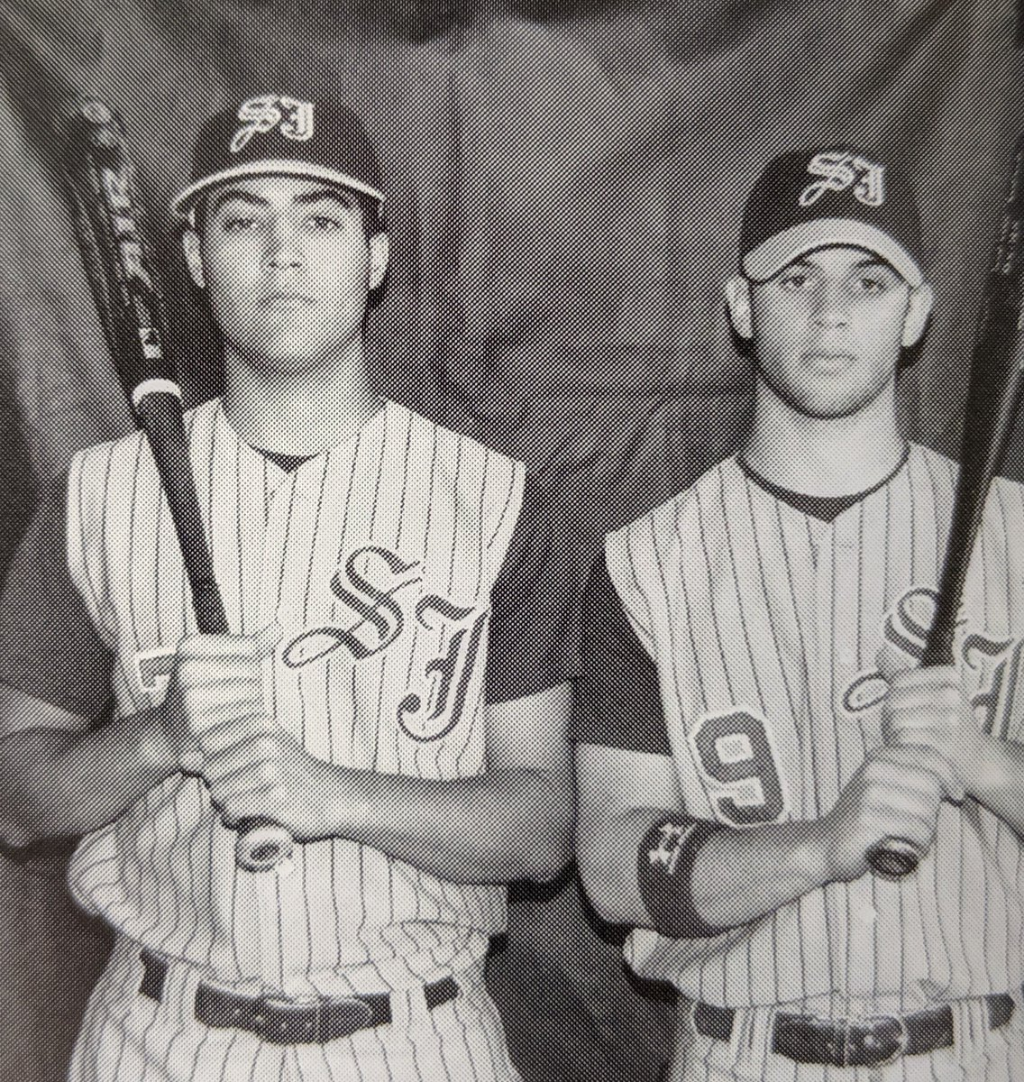"Separated by 12 years, @MLB All Star Tommy La Stella '07 (@Angels) and former co-captain and 2018 @PAPD911 ""Cop of the Year"" Anthony Estevez. Read More:  https:// bit.ly/2JI7nsM      #WeAreSJR #ThrowbackThursday Check us out on Facebook (/saintjosephregional) for more throwbacks!<br>http://pic.twitter.com/jdWOzDcbqB"