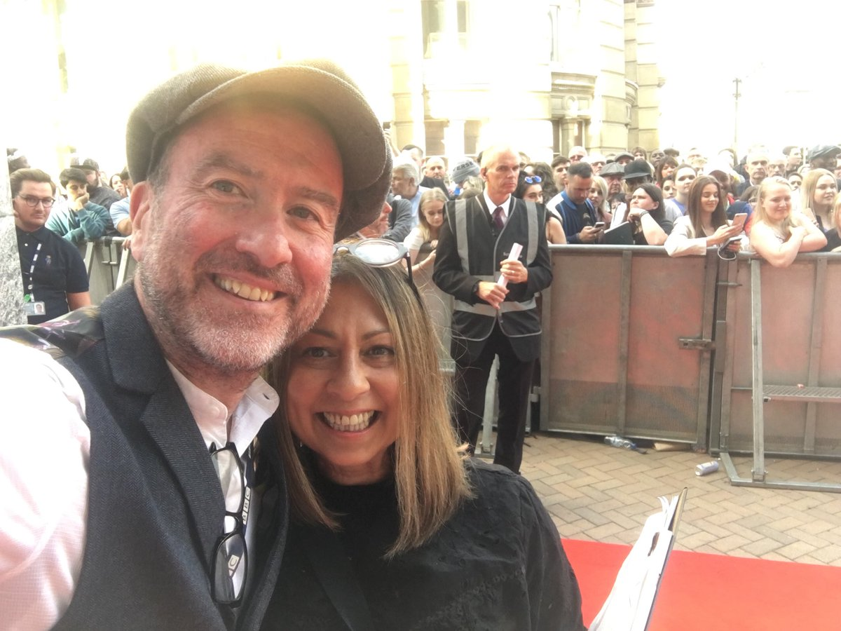 On the red carpet at the #PeakyBlinders premier with @BlakemoreWM<br>http://pic.twitter.com/588H42MNSX