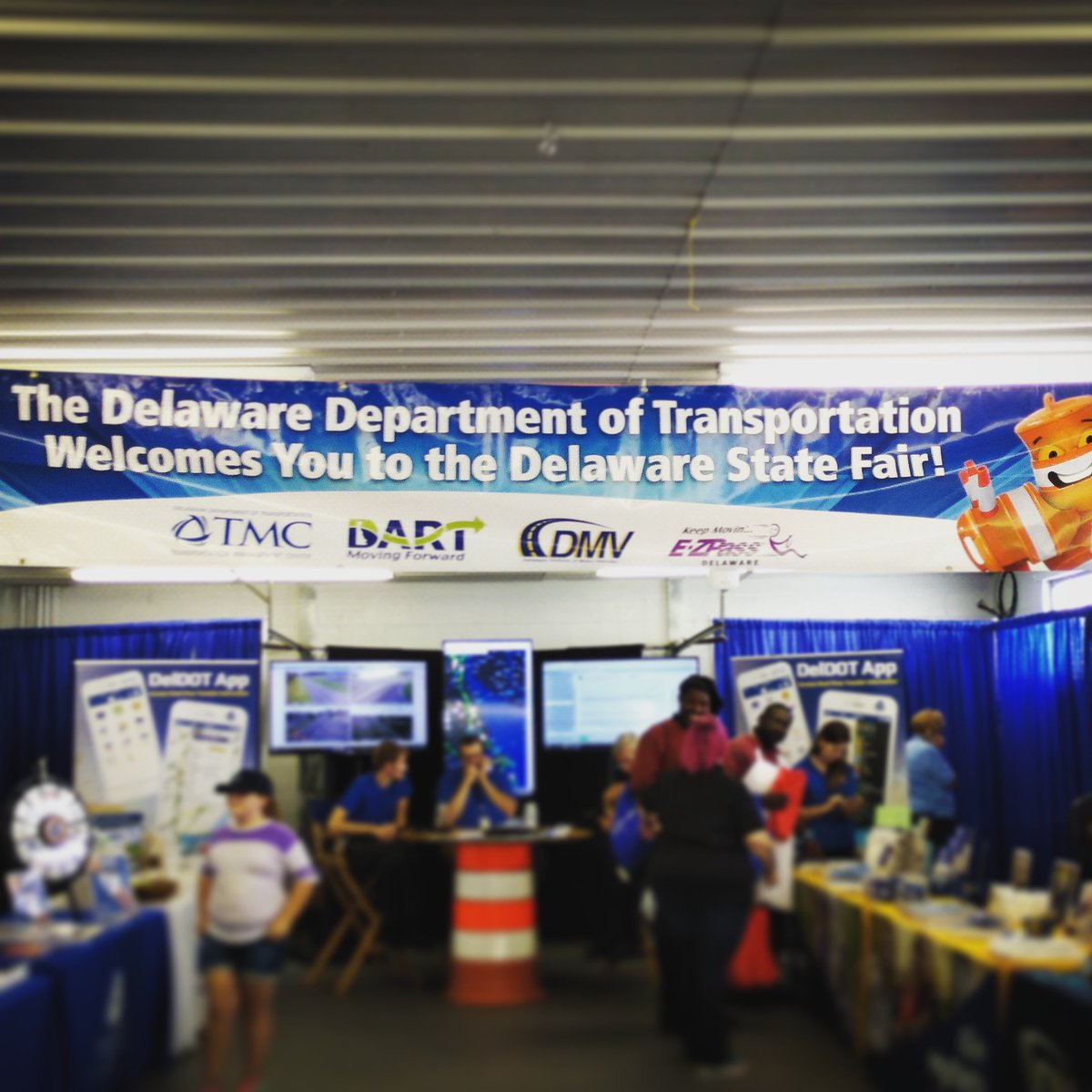 We're in the Delaware Building with information, goodies, and a spin to win wheel at the Delaware DOT Table. Stop in, check us out! #DEStateFair #NetDE