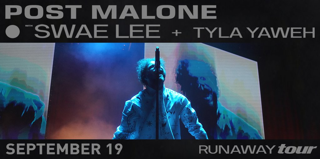 """Feelin' like a rockstar 🤘  @PostMalone and special guests @goSwaeLee + @TylaYaweh are coming to Sacramento Sept. 19!  Use presale code """"CHEETAH"""" for tickets NOW » http://spr.ly/6011Eaao5"""