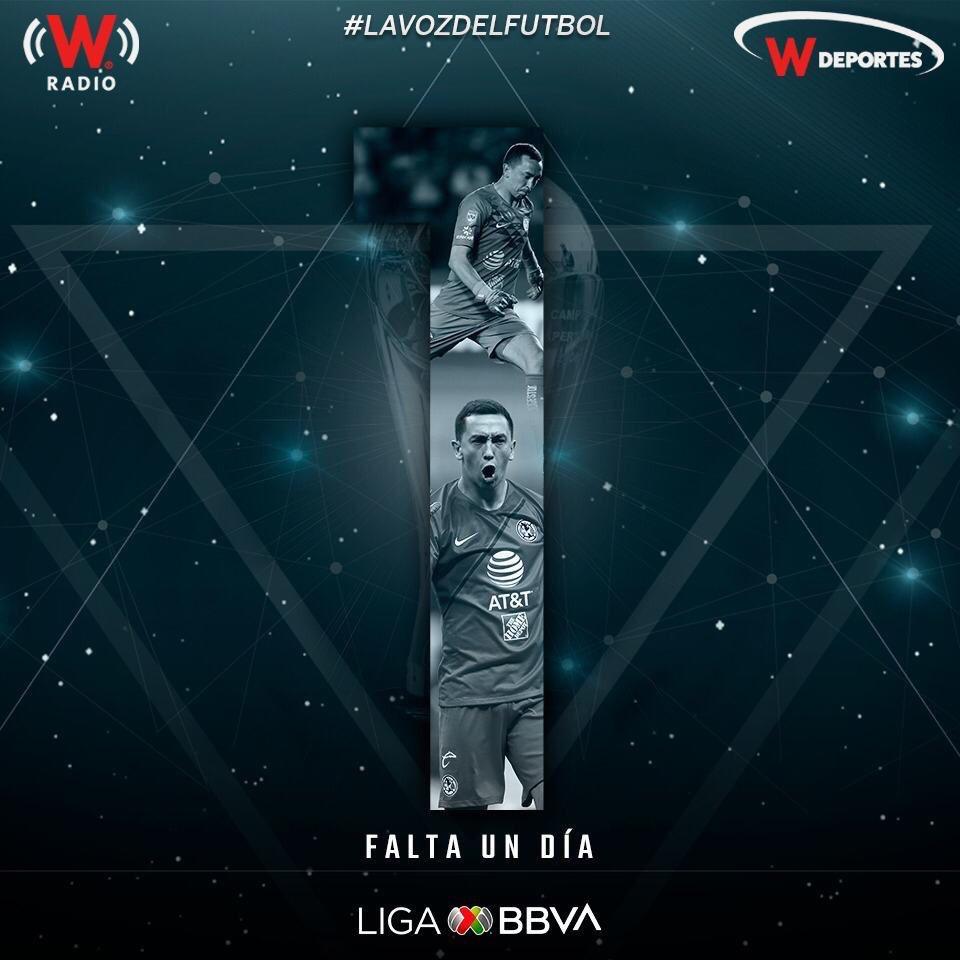 ¡Sólo falta un día para el regreso de la @LigaBBVAMX! A través de @WRADIOMexico 96.9FM y @deportesWRADIO 730AM te llevaremos las mejores emociones del Apertura 2019.