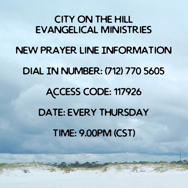 Join us for anointed prayers tonight at 9pm
