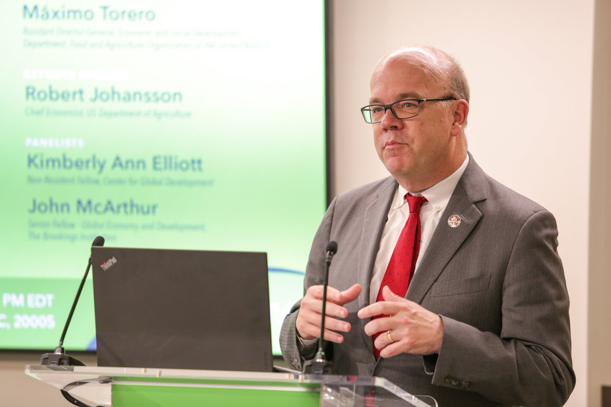 """""""#Hunger is a political condition. We know what we need to do to solve it, but it doesn't get the priority it deserves."""" - @RepMcGovern  @UNFAO #SOFI2019 #IFPRIPolicySeminar #ifpriLIVE #nutrition"""
