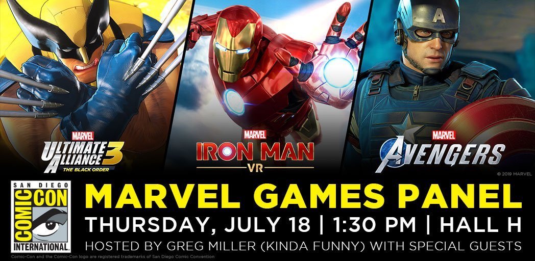 Todays the big day! Just a few more hours until our Marvel Games panel in Hall H. We have so many surprises for you all… we cant wait to see you there! #MarvelSDCC