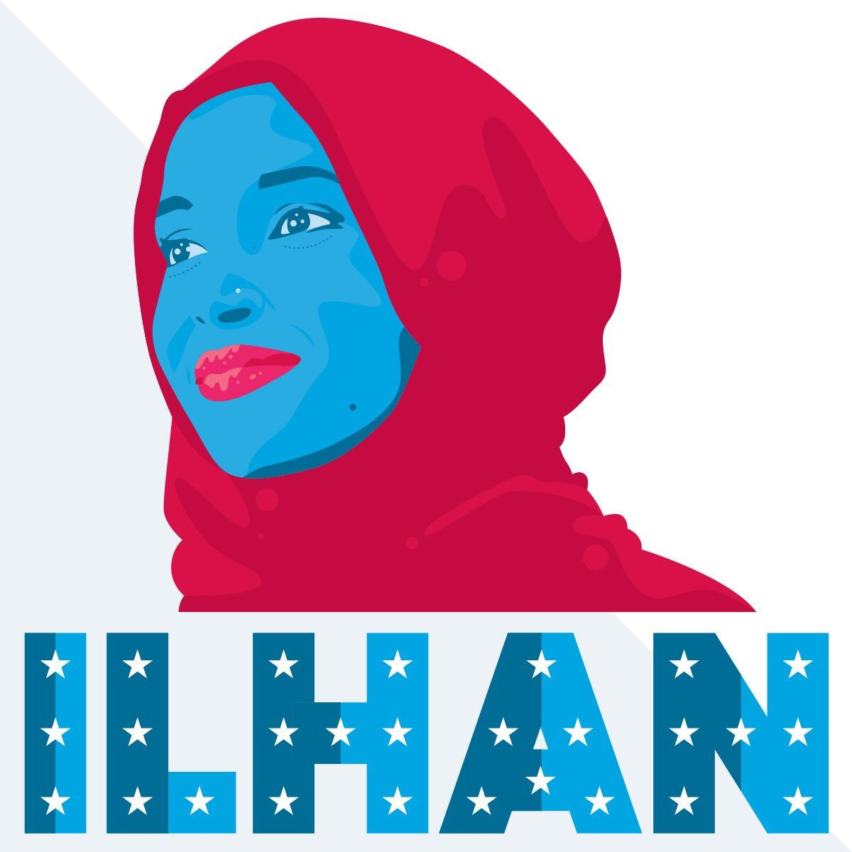 I #StandWithIlhan I voted for her. based on her work & what she's shown us, I'd vote for her again. poster designed by @Mike2600
