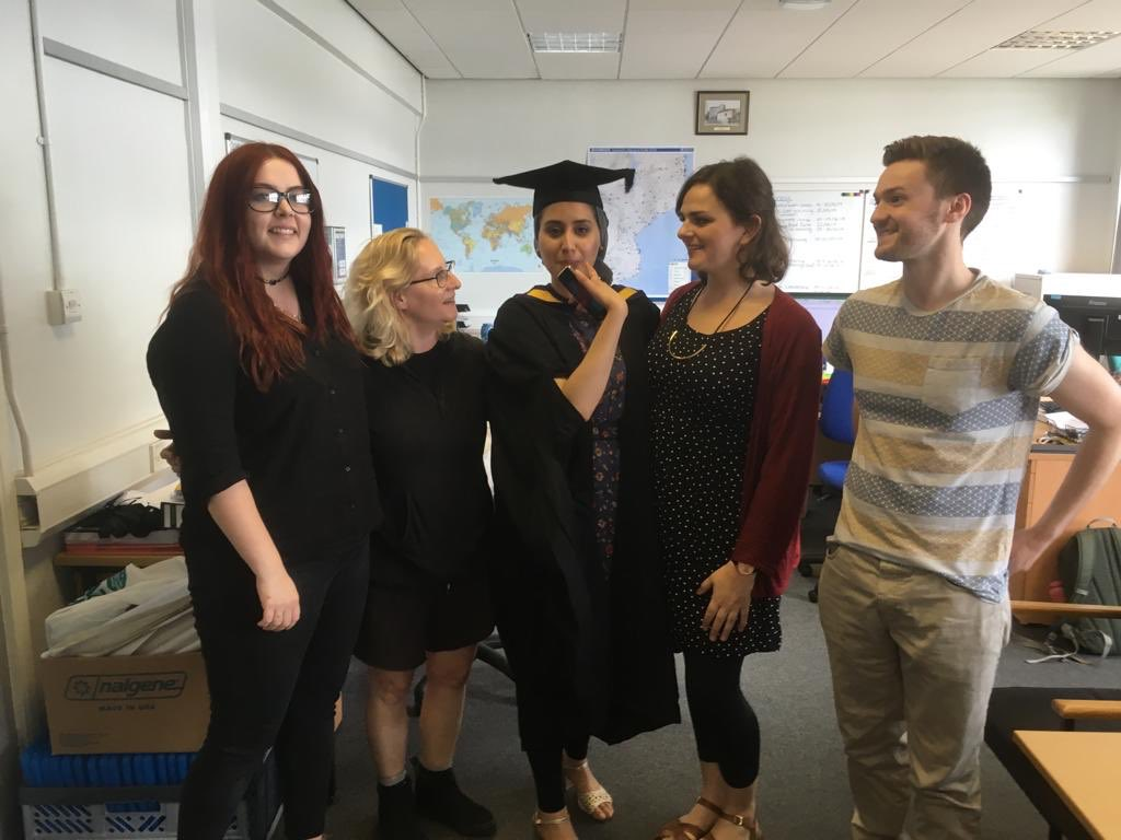 Congratulations to our very own Robina who had her masters graduation ceremony today! #brainy #celebration #capandgown