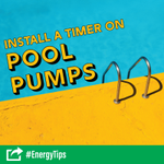 Use up to 70 percent less energy by installing a pool pump timer or upgrading to an @EnergyStar pump. #EnergyTip