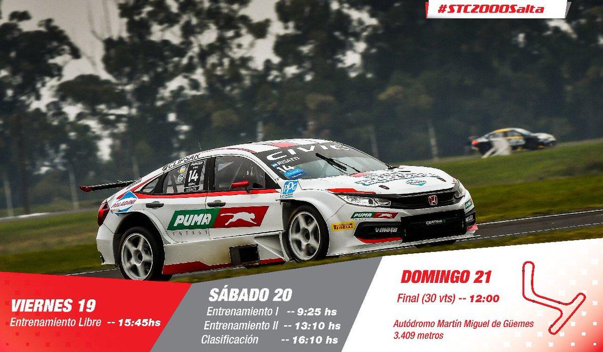 Nos preparamos para salir a pista 👊🏻  Estos son los horarios para el equipo en Salta 🕐  #HondaRacing #ThePowerOfDreams  #ST2000Salta