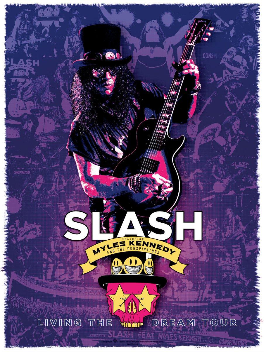Living The Dream Tour - Exclusive merch bundles available from http://slashonline.com - including a screen printed poster. #slashnews  Exclusive merch bundles: https://shop.bandwear.com/collections/slash-shop…